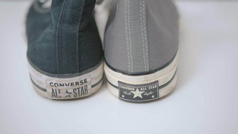 chuck 70 vs classic heel label