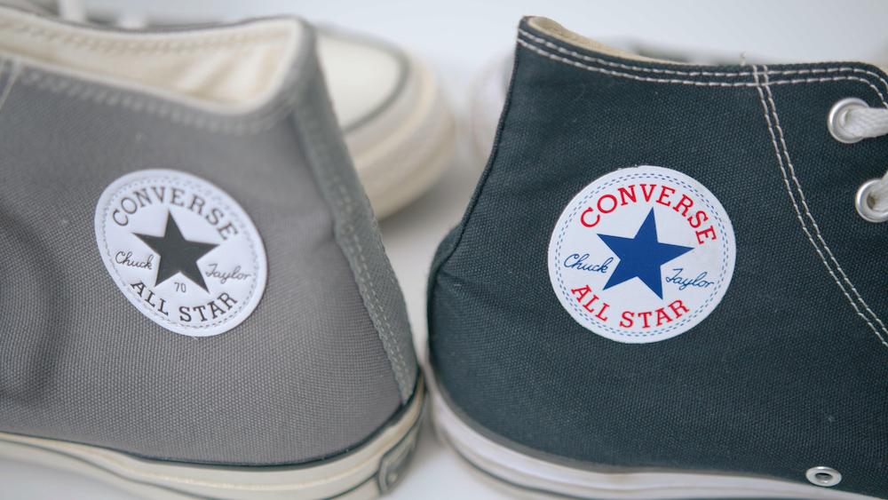 chuck 70 vs classic heel patch