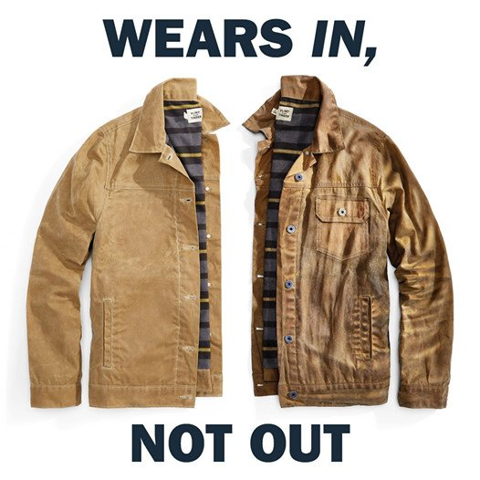 flint and tinder old trucker jacket