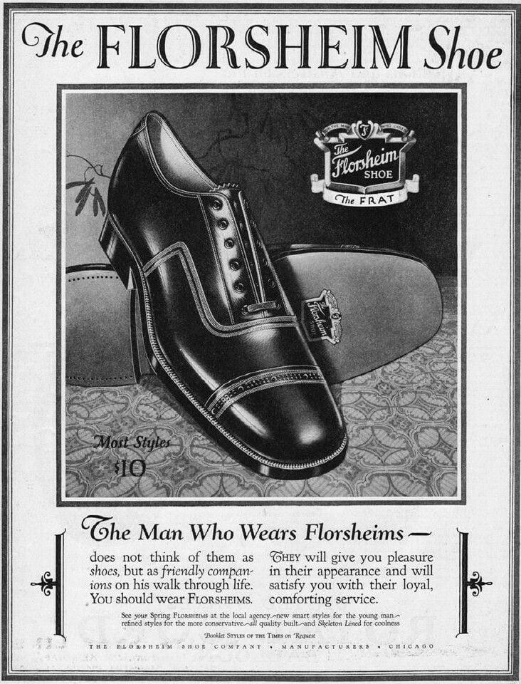 1920s Florsheim Ad