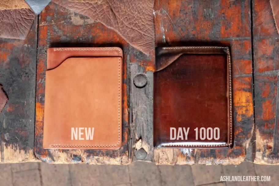 Cordovan wallet patina