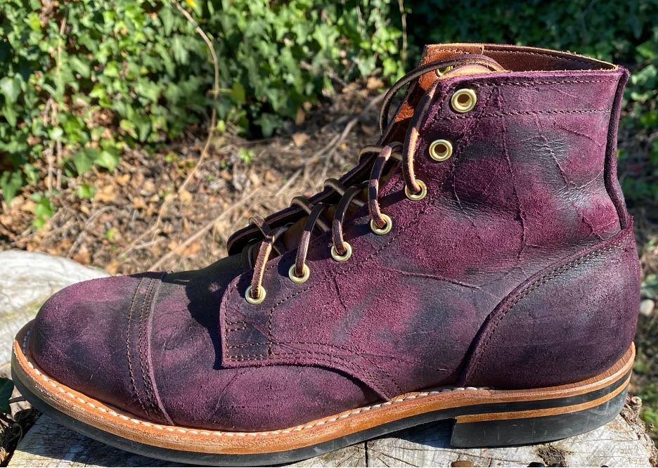 Truman Black Burgundy Rambler Leather 4