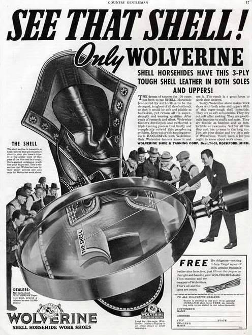 Wolverine Cordovan ad