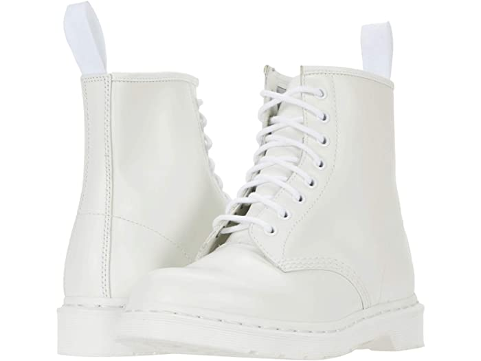 all white doc martens boot