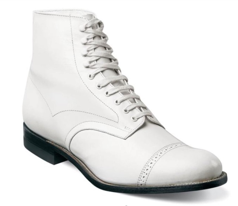 all white stacy adams madison boot