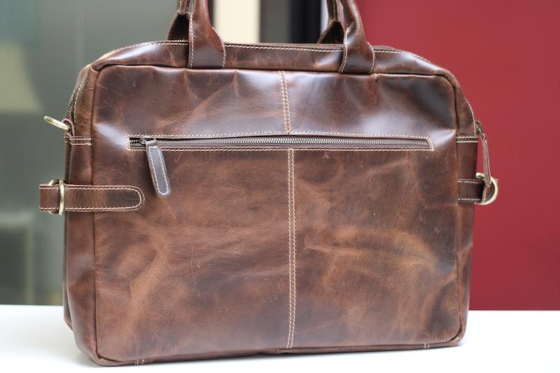 kodiak leather pilot bag reverse side