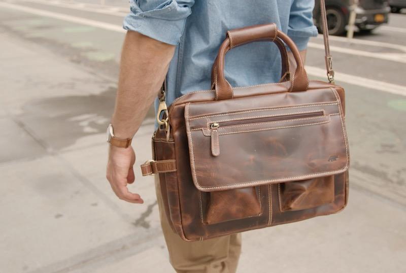 kodiak leather pilot bag street
