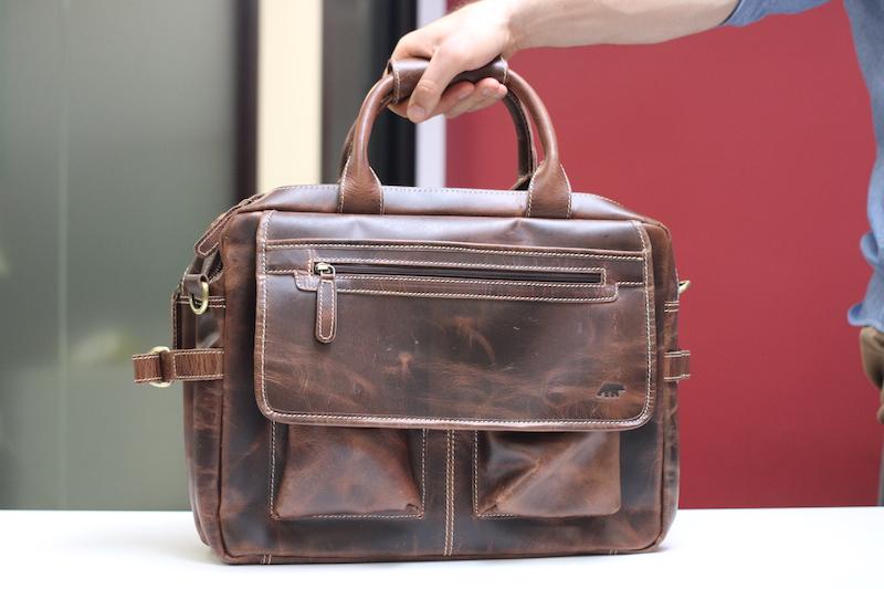 kodiak leather pilot bag