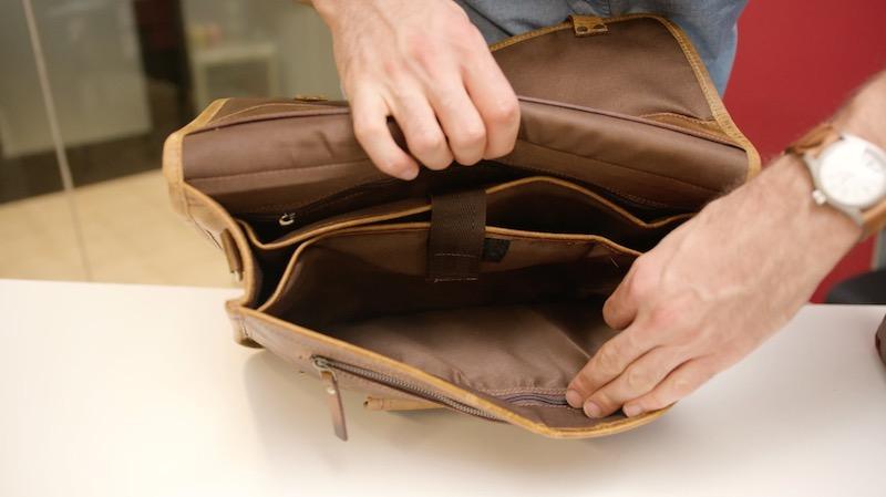 kodiak leather satchel interior