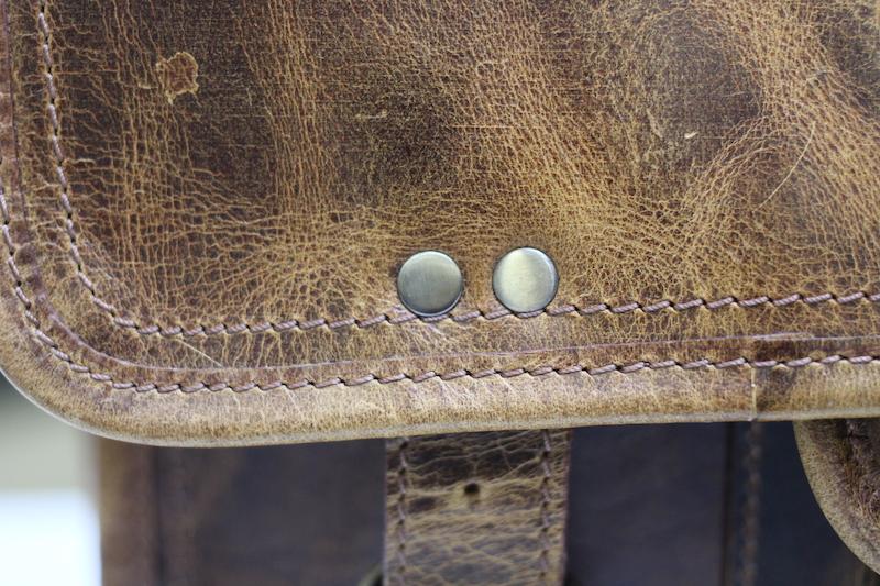 kodiak leather satchel rivet