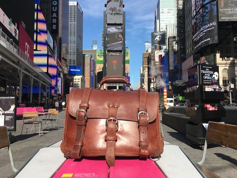 saddleback bag in times square