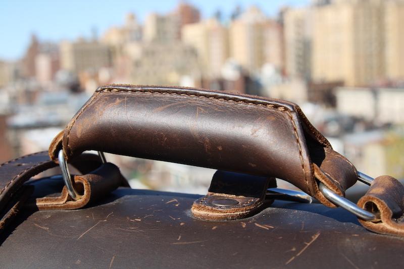 saddleback briefcase handle