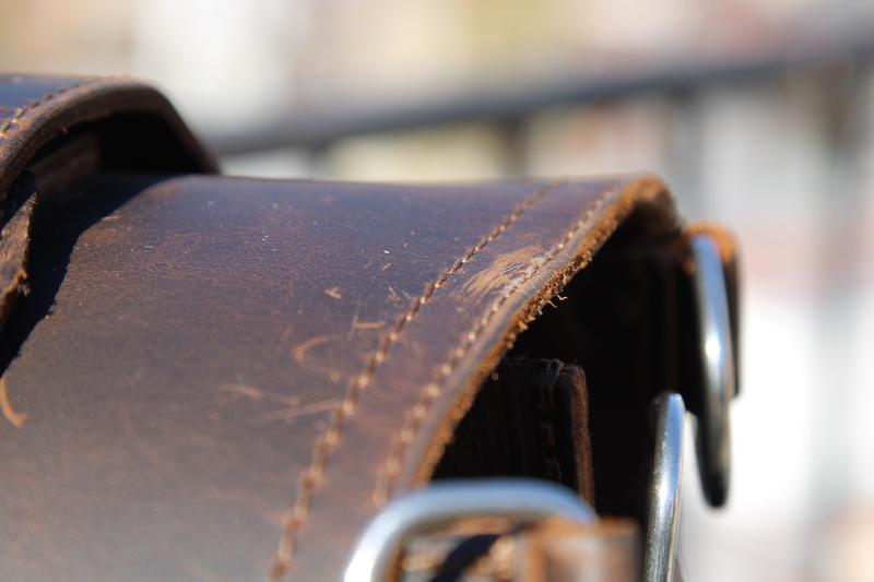 saddleback briefcase raw edges
