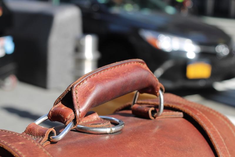 saddleback handle leather bag