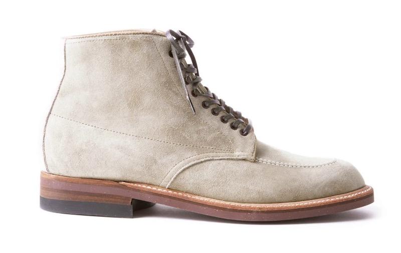 white alden indy boot, todd snyder x alden indy milkshake