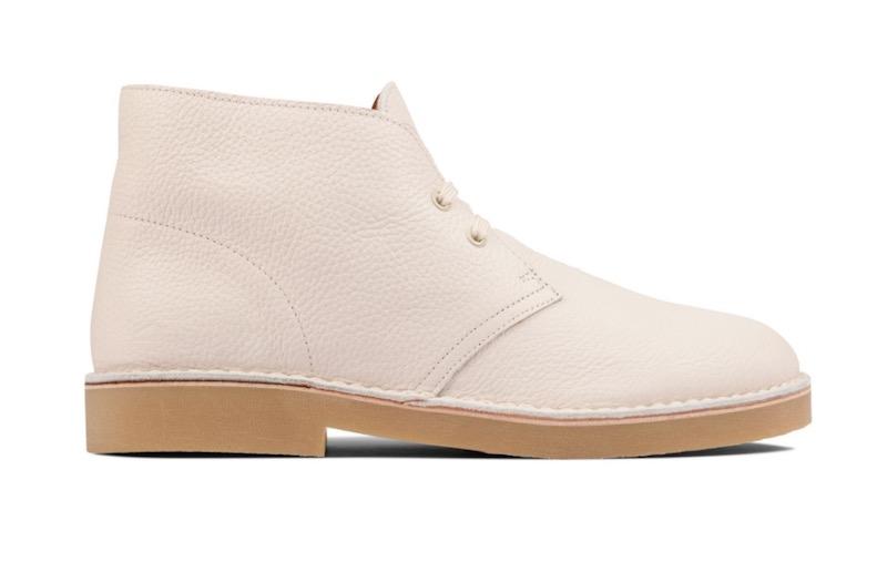white clarks desert boot
