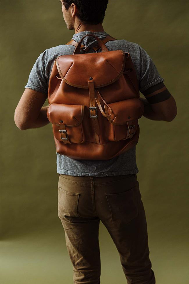 wp standard leather backpack
