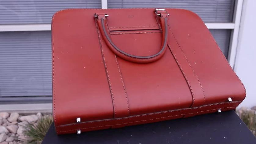 carl friedrik palissy briefcase outside