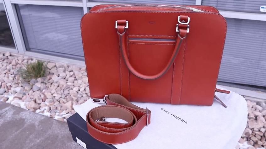 carl friedrik palissy briefcase with strap