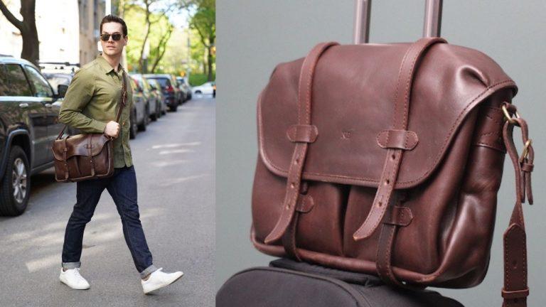 cravar leather messenger bag review