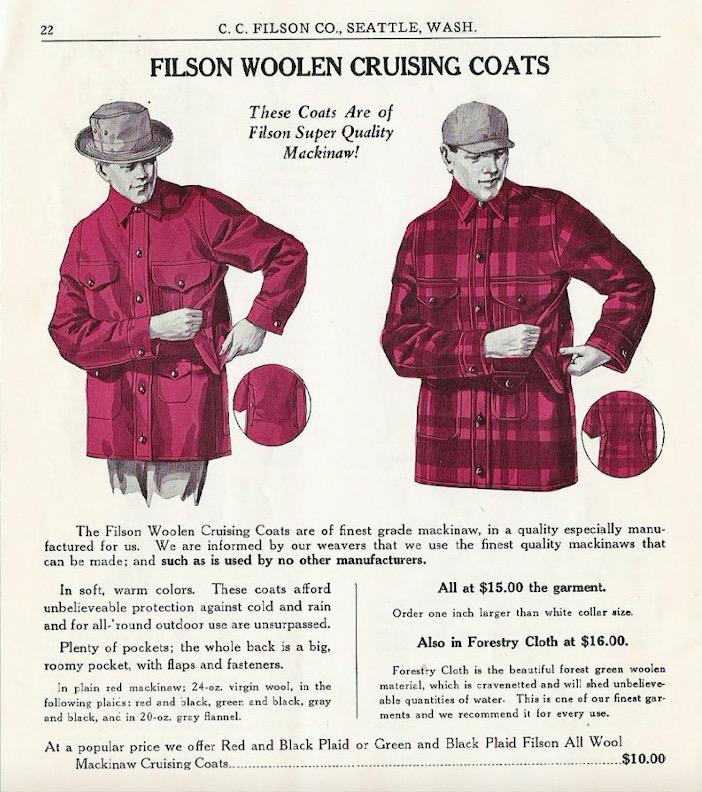 filson mackinaw cruiser jacket advertisement