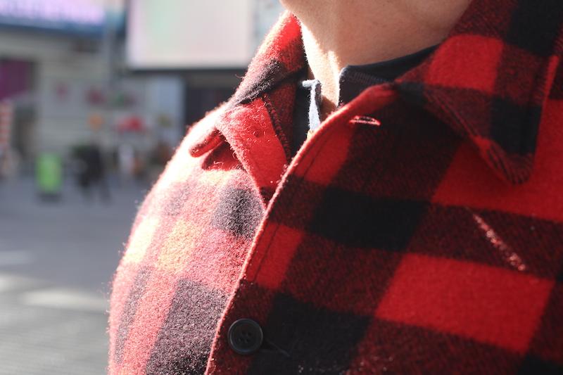 filson mackinaw cruiser jacket collar