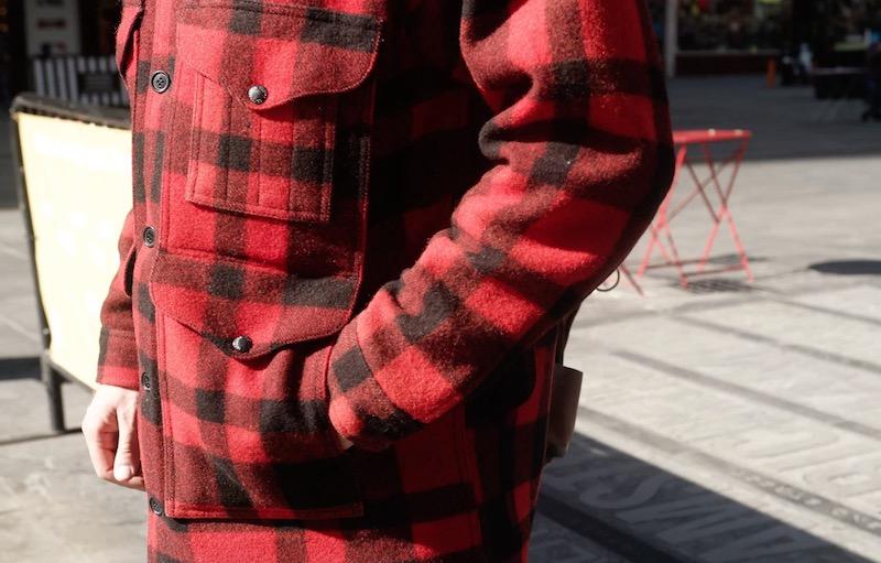 filson mackinaw cruiser jacket hand warmer pocket