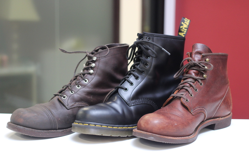 red wing iron ranger and blacksmith and dr martens