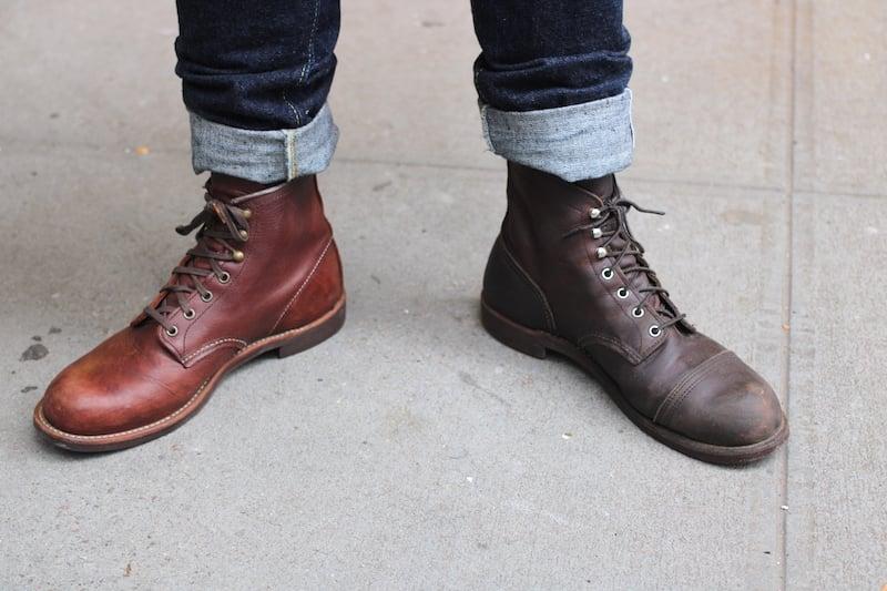 red wing iron ranger vs blacksmith on feet