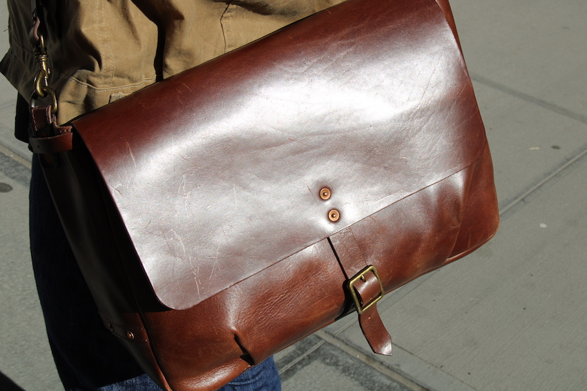 satchel and page mailbag vegetable tanned leather
