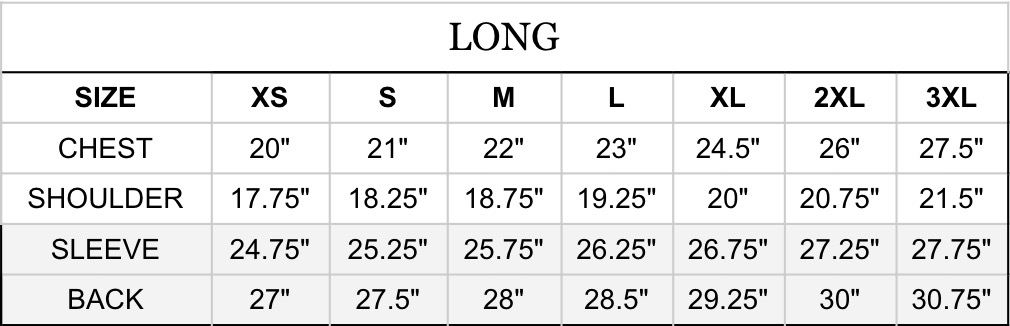 ship john wills jacket sizing