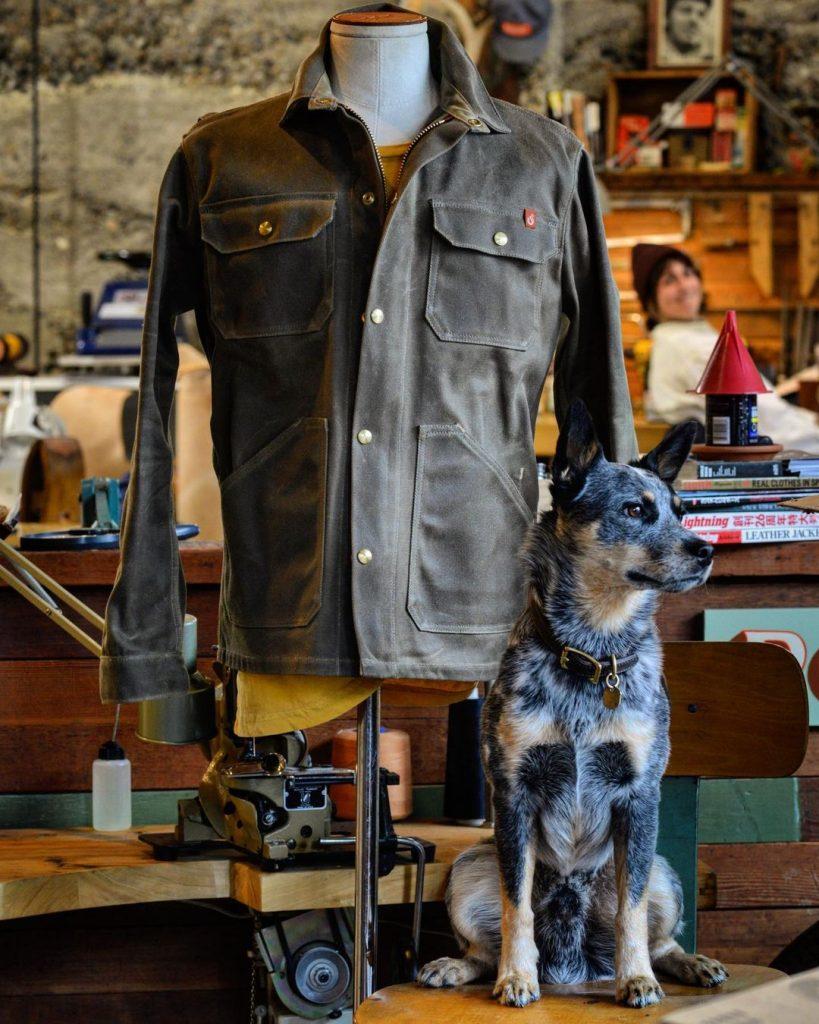ship john wills jacket with dog