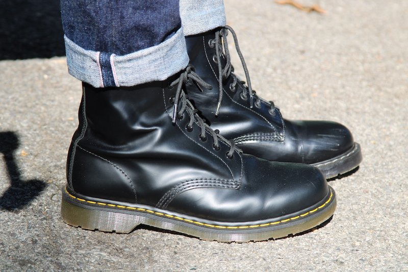 dr martens with solovair in the back
