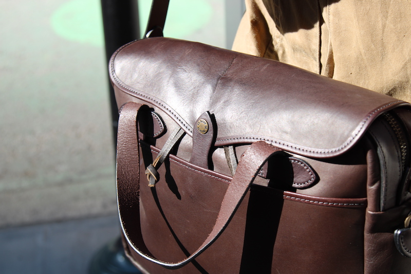 filson leather briefcase handles