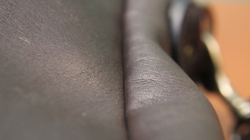 filson leather briefcase seam
