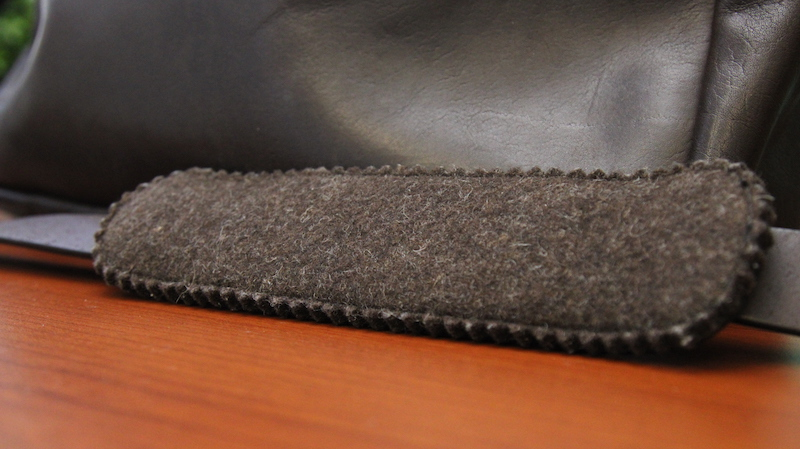 filson leather briefcase shoulder pad
