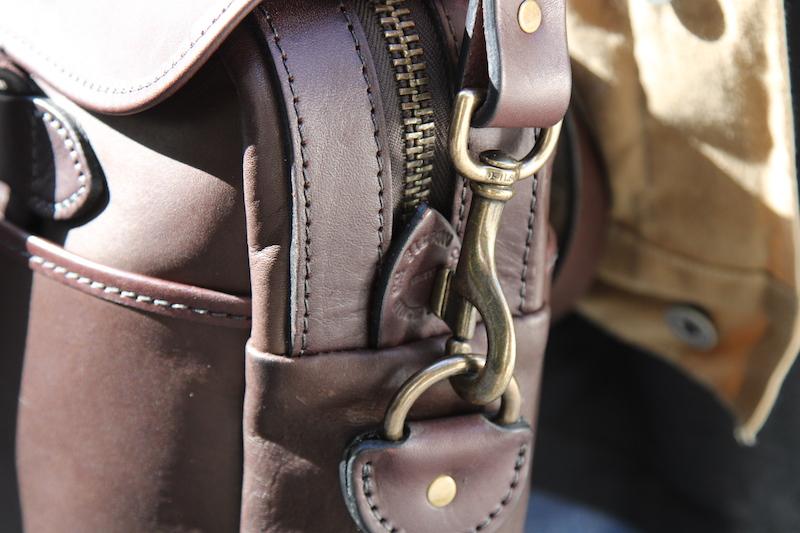 filson leather briefcase strap clip