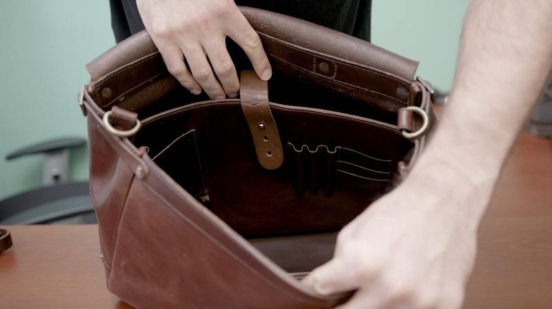 satchel & page mailbag interior