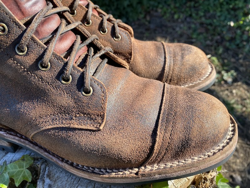 Truman Java Waxed Flesh boot patina