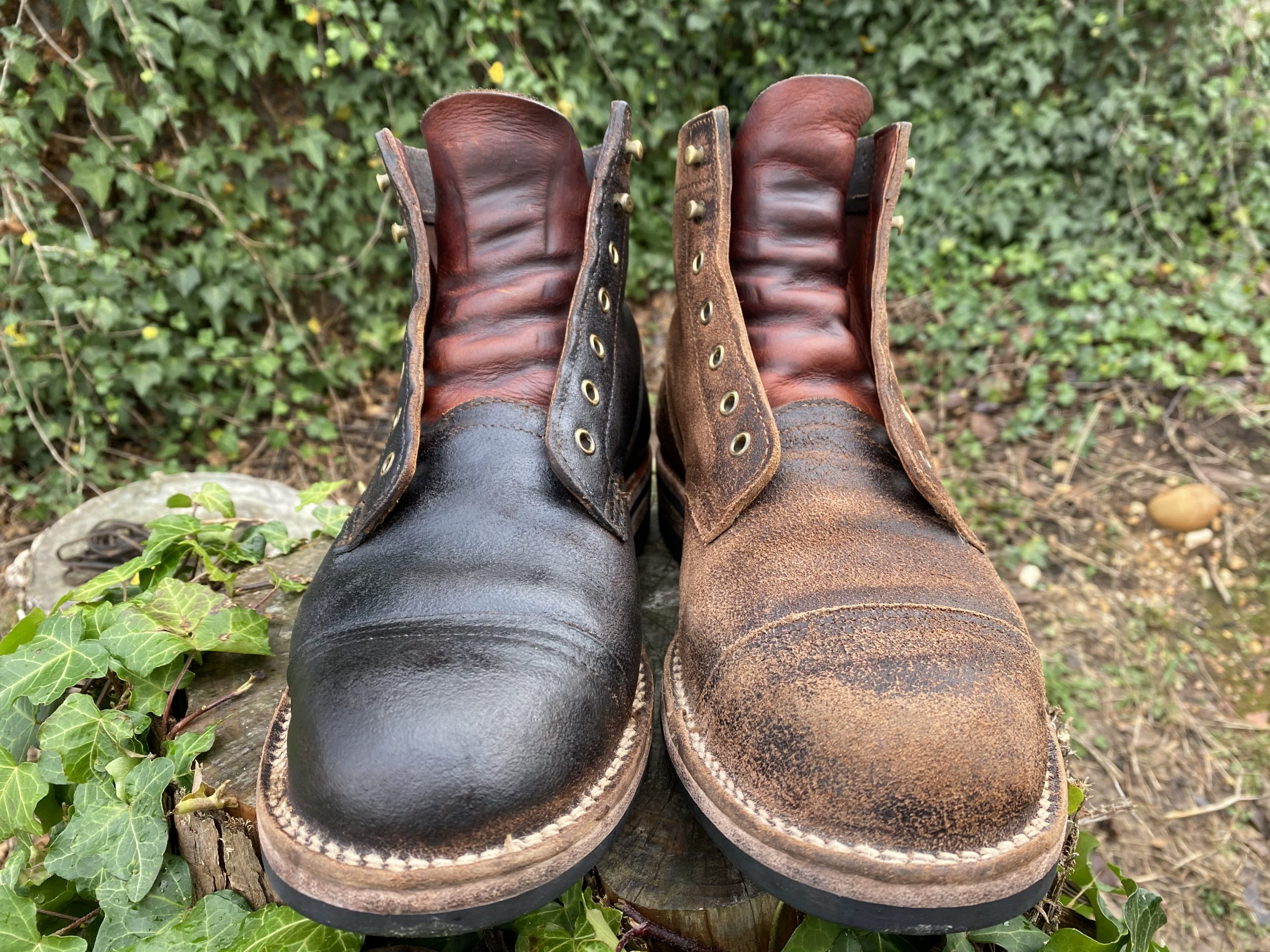 birchees leather conditioner before and after