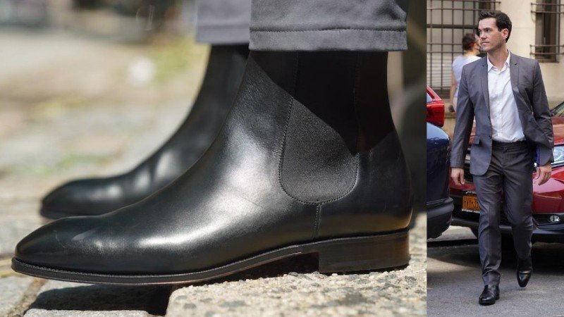 Carmina Chelsea Boot with a suite