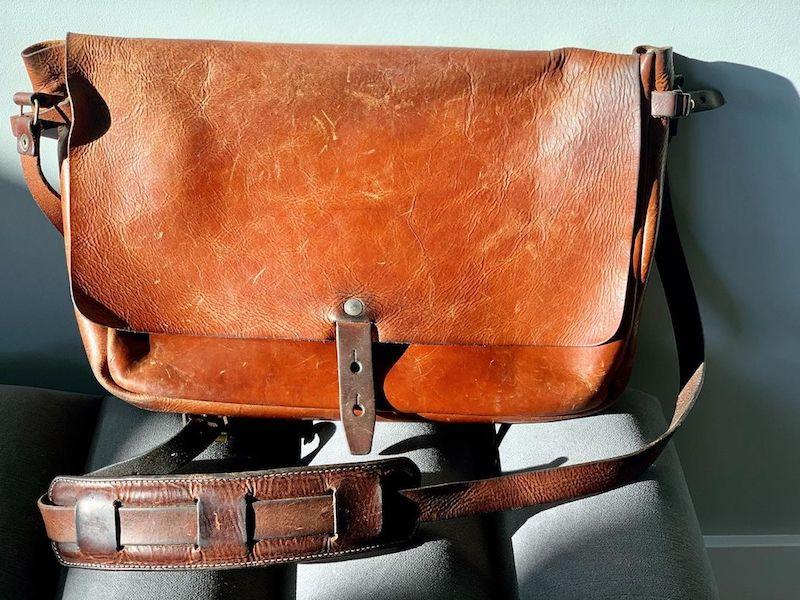 old WP Standard messenger bag