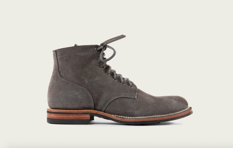 viberg Anthracite Waxed Roughout