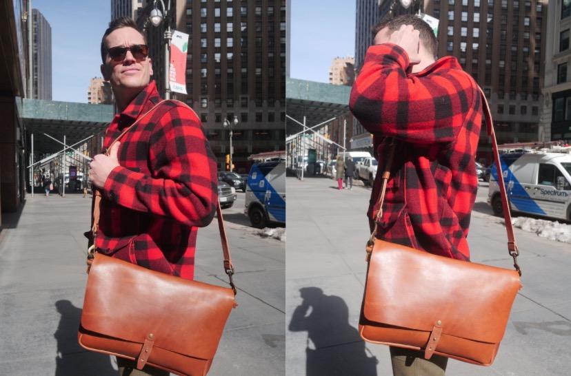 wp standard messenger bag with filson coat