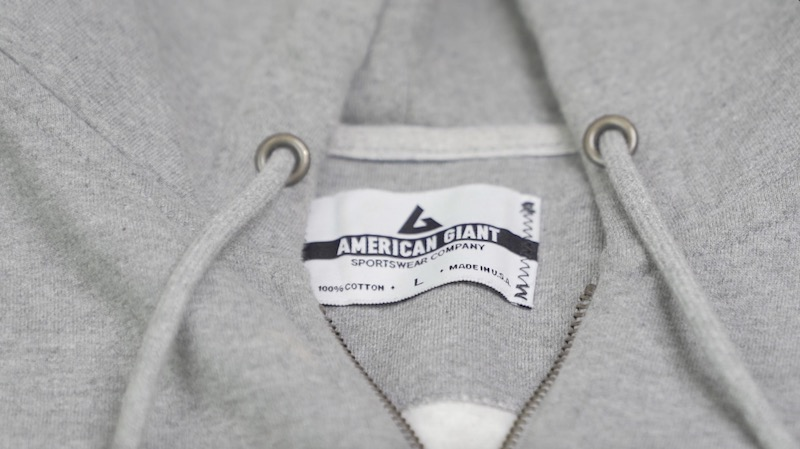 american giant hoodie cotton