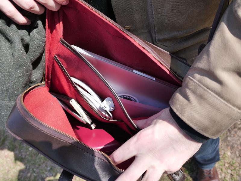 cravar leather briefcase co 15 interior