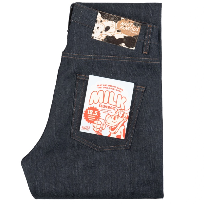naked and famous milk selvedge