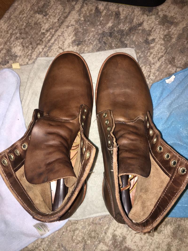 saphir vs venetian shoe cream application