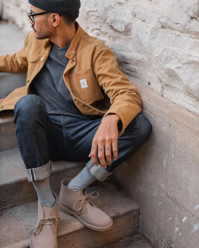 clarks desert boots casual