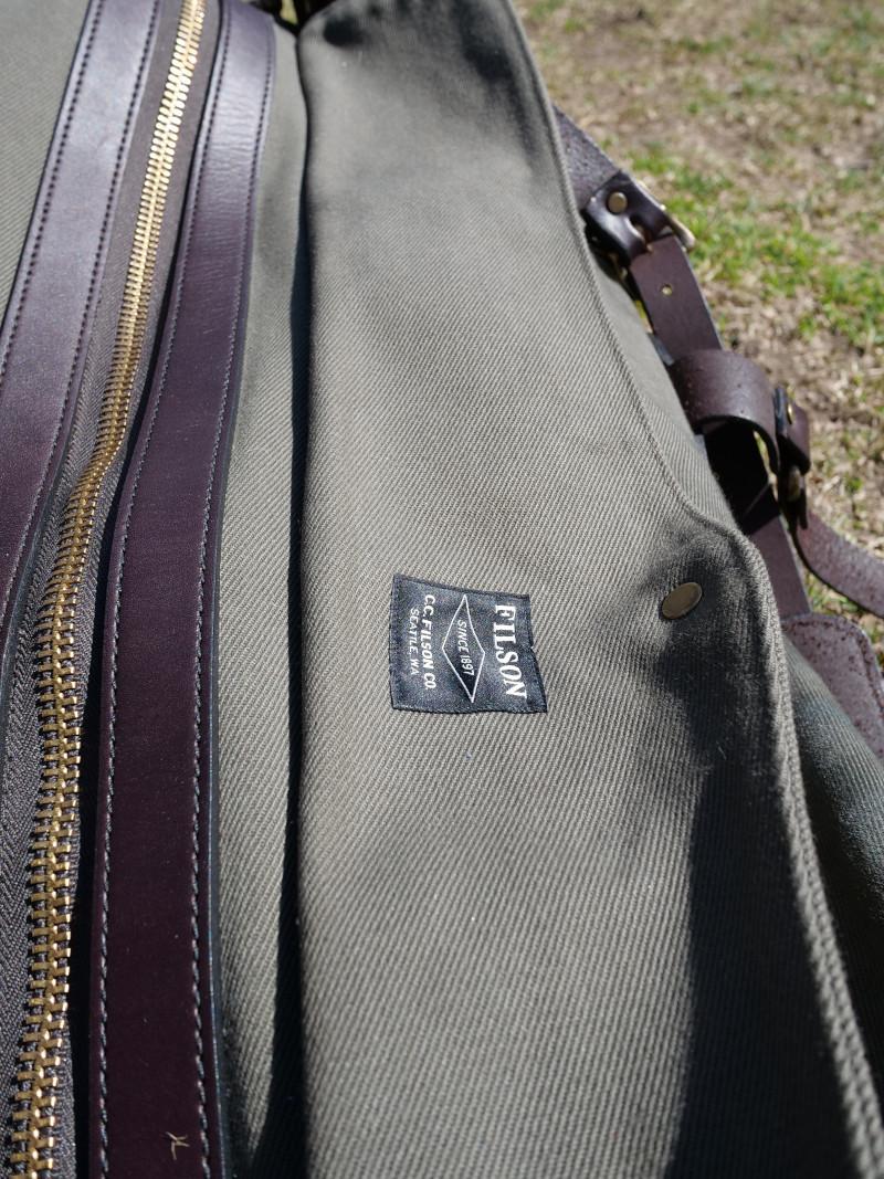 Close up of Filson Duffle fabric